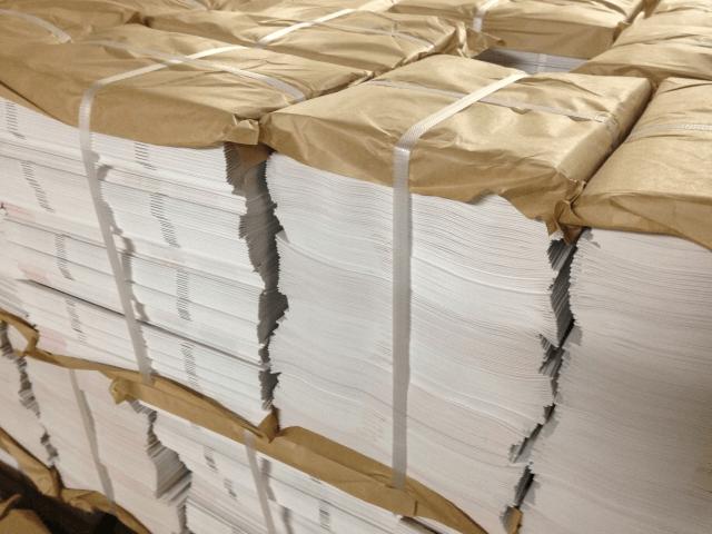紙処分の様子